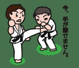 One frame with a karate friend sticker #12737954