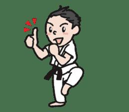 One frame with a karate friend sticker #12737962