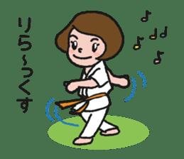 One frame with a karate friend sticker #12737966