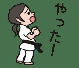 One frame with a karate friend sticker #12737969