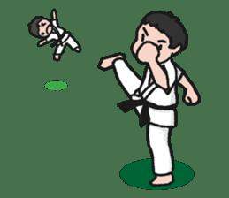 One frame with a karate friend sticker #12737972
