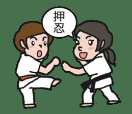 One frame with a karate friend sticker #12737973