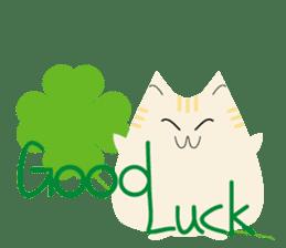 The cute fat cat sticker #12738553