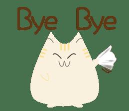 The cute fat cat sticker #12738564