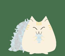 The cute fat cat sticker #12738567