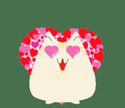 The cute fat cat sticker #12738568