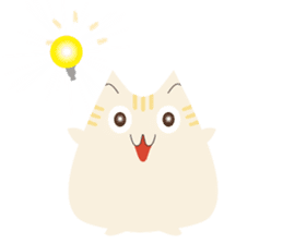 The cute fat cat sticker #12738577