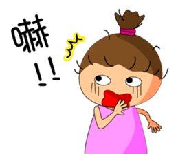The ponytail girl's daily live. sticker #12739774