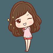 สติ๊กเกอร์ไลน์ Honey little girl happy everyday. +