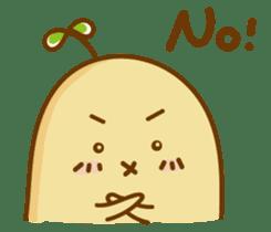 Lazy Potato Man sticker #12749242