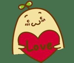 Lazy Potato Man sticker #12749271