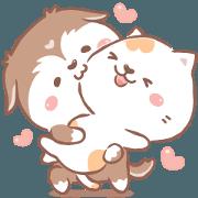สติ๊กเกอร์ไลน์ เบโป้ & โคโค่ : ความรักคอลลิ่ง