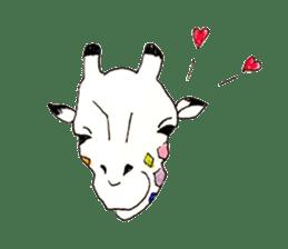 Colorful Giraffes sticker #12752678