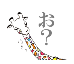 Colorful Giraffes sticker #12752679