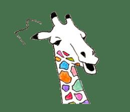 Colorful Giraffes sticker #12752680