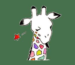 Colorful Giraffes sticker #12752681