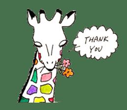 Colorful Giraffes sticker #12752683