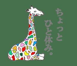 Colorful Giraffes sticker #12752684
