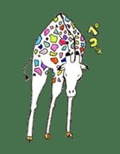 Colorful Giraffes sticker #12752686