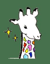Colorful Giraffes sticker #12752688