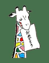 Colorful Giraffes sticker #12752689