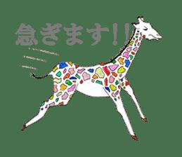 Colorful Giraffes sticker #12752690