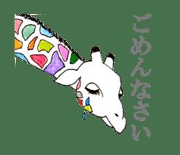 Colorful Giraffes sticker #12752692