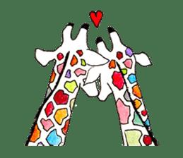 Colorful Giraffes sticker #12752694