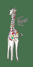 Colorful Giraffes sticker #12752695