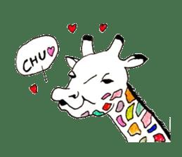 Colorful Giraffes sticker #12752699