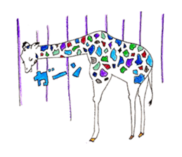 Colorful Giraffes sticker #12752701