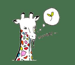 Colorful Giraffes sticker #12752702
