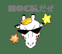 Colorful Giraffes sticker #12752703