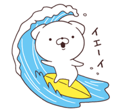 Daily Lives of cute white dog in summer sticker #12762398