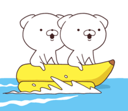 Daily Lives of cute white dog in summer sticker #12762399