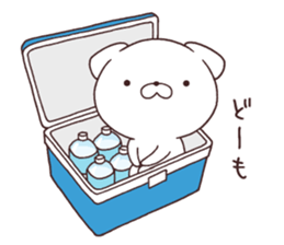 Daily Lives of cute white dog in summer sticker #12762400