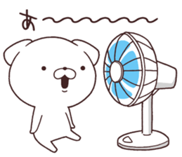 Daily Lives of cute white dog in summer sticker #12762401