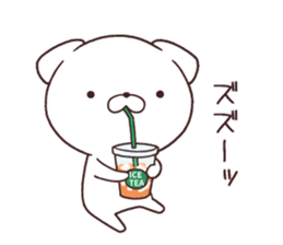 Daily Lives of cute white dog in summer sticker #12762405
