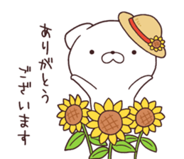 Daily Lives of cute white dog in summer sticker #12762406