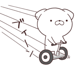 Daily Lives of cute white dog in summer sticker #12762408