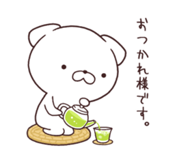 Daily Lives of cute white dog in summer sticker #12762415