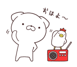 Daily Lives of cute white dog in summer sticker #12762420