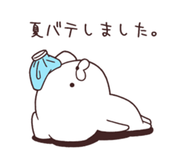 Daily Lives of cute white dog in summer sticker #12762428