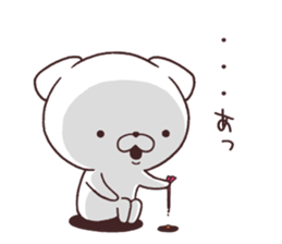 Daily Lives of cute white dog in summer sticker #12762433