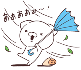 Daily Lives of cute white dog in summer sticker #12762436