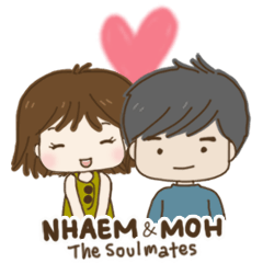 สติ๊กเกอร์ไลน์ NHAEM & MOH: The soulmates