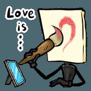 สติ๊กเกอร์ไลน์ Mr.Painter - Love is...