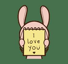 Pink Rabbit Animated sticker #12798938