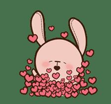Pink Rabbit Animated sticker #12798940