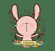 Pink Rabbit Animated sticker #12798941